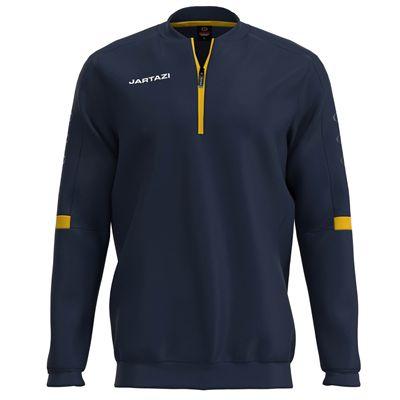 Jartazi Roma Mens Zip Top Sweater - Navy