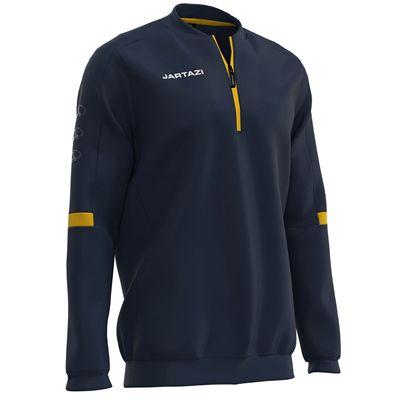Jartazi Roma Mens Zip Top Sweater - Navy Angle