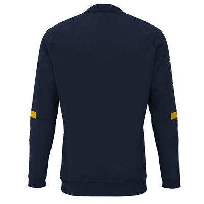 Jartazi Roma Mens Zip Top Sweater - Navy Back