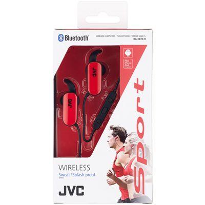 JVC Wireless In-Ear Bluetooth Sport Headphones-Red-Box