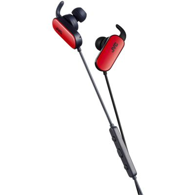 JVC Wireless In-Ear Bluetooth Sport Headphones-Red