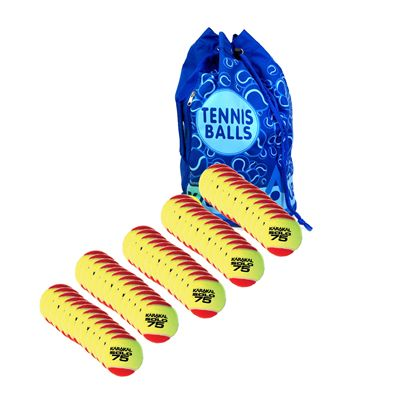 Karakal Solo 75 Mini 5 Doz Tennis Balls and Bag Bundle