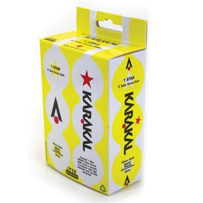 Karakal 1 Star Table Tennis Balls - Pack of 6 - Back