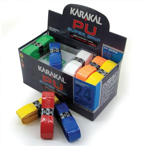 Karakal Assorted Colour PU Super Replacement Grip - 24 pack