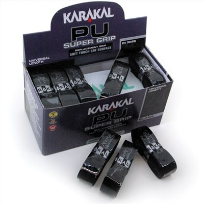Karakal Black PU Super Replacement Grip 24 pack
