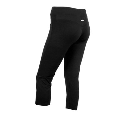 Karakal Capri Leggings-Black-Back-Left-Side