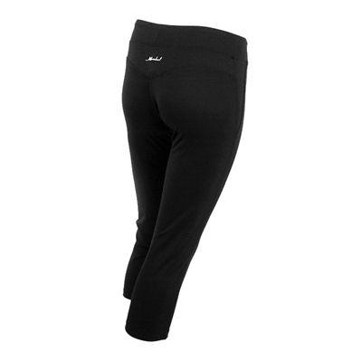 Karakal Capri Leggings-Black-Back-Right-Side