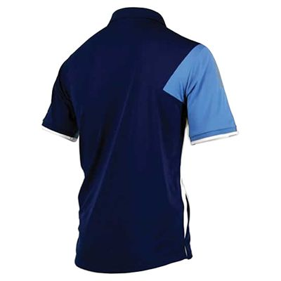 Karakal Dijon Button Polo Shirt-Navy-Back