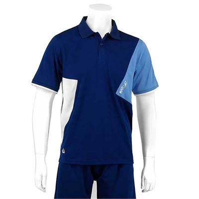 Karakal Dijon Button Polo Shirt-Navy-Front
