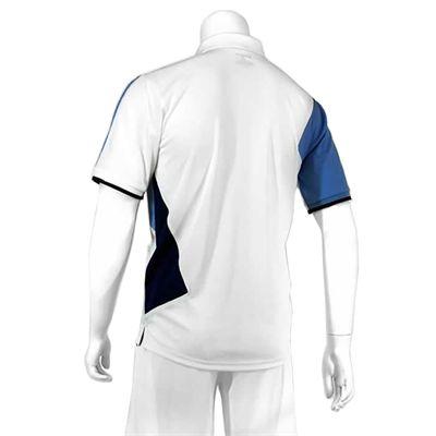 Karakal Dijon Button Polo Shirt-White-Back