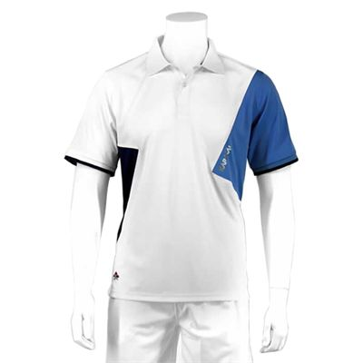 Karakal Dijon Button Polo Shirt-White-Front