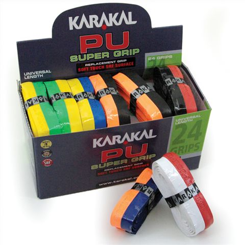 Karakal DUO Colour PU Super Replacement Grip - 24 pack
