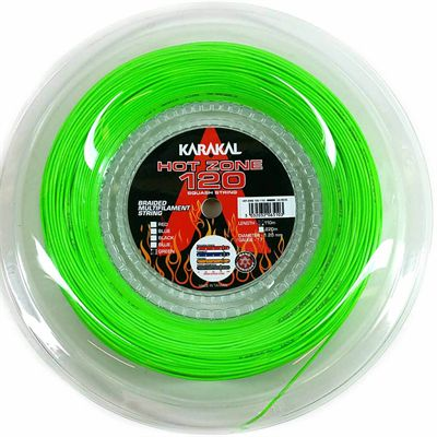 Karakal Hot Zone 120 Squash String - 110m Reel - Green
