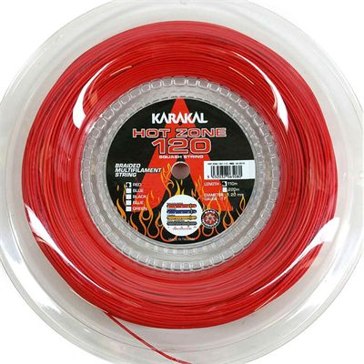 Karakal Hot Zone 120 Squash String - 110m Reel - Red