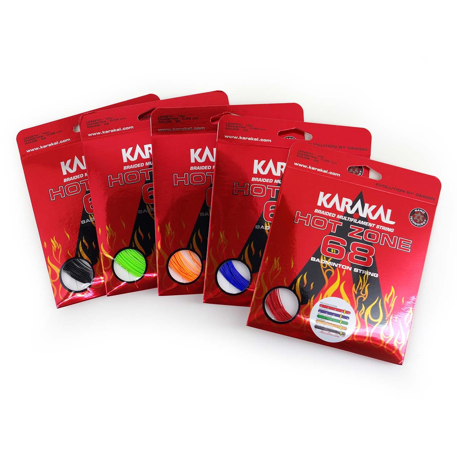 Karakal Hot Zone 68 Badminton Durable 0.68 Thin String Set