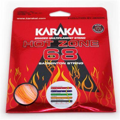 Karakal Hot Zone 68 Badminton String Set - Orange