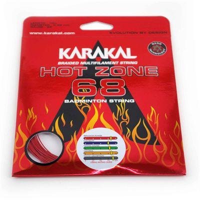 Karakal Hot Zone 68 Badminton String Set - Red