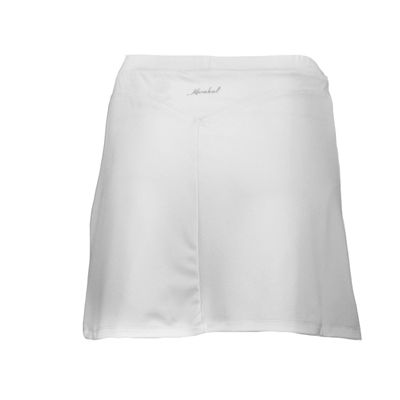 Karakal Kross Kourt Plain Skort-White-Back