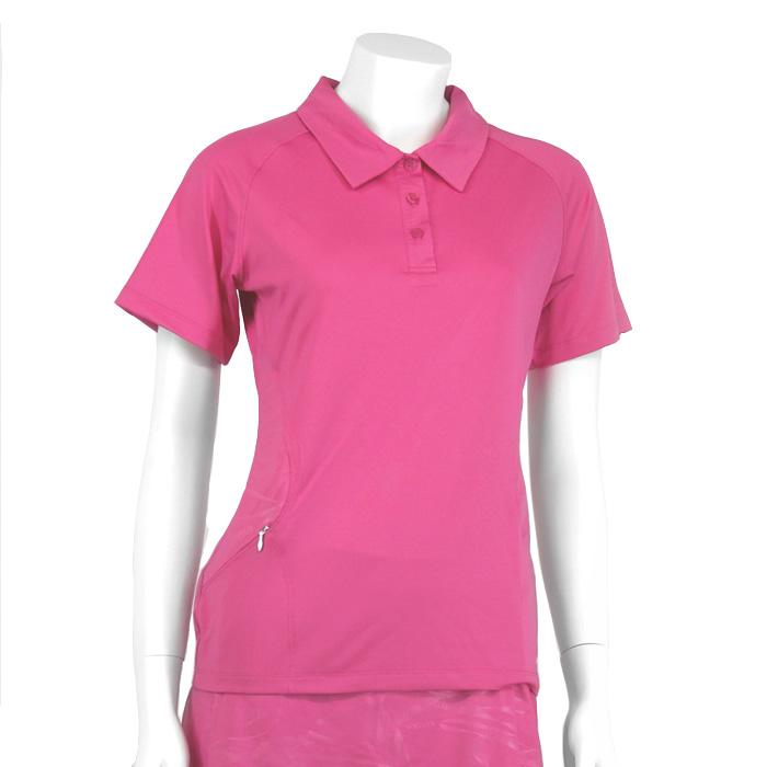 Karakal Kross Kourt Polo Shirt - Pink, M