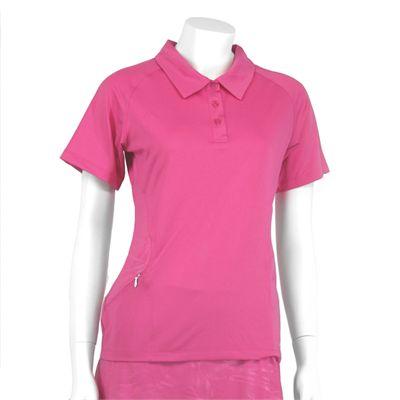 Karakal Kross Kourt Polo Shirt-Pink-Front