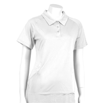 Karakal Kross Kourt Polo Shirt-White-Front