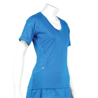 Karakal Kross Kourt Tee Shirt-Blue-Side