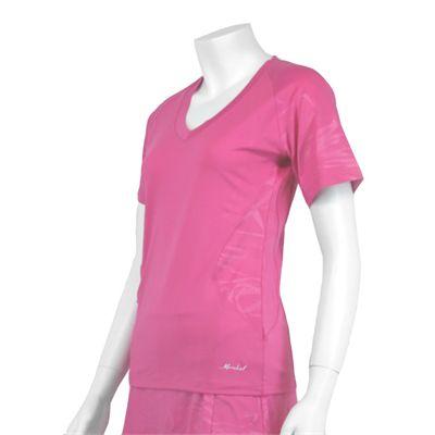 Karakal Kross Kourt Tee Shirt-Pink-Side