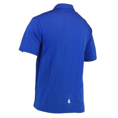 Karakal Leon Button Polo Shirt-Blue-Back