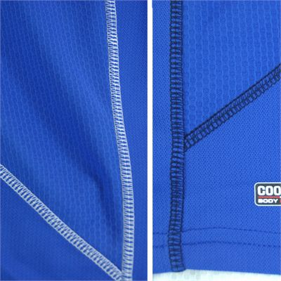 Karakal Leon Button Polo Shirt-Blue-Close-View