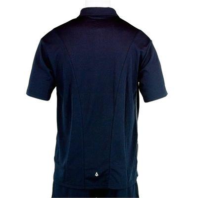 Karakal Leon Button Polo Shirt-Navy-Back
