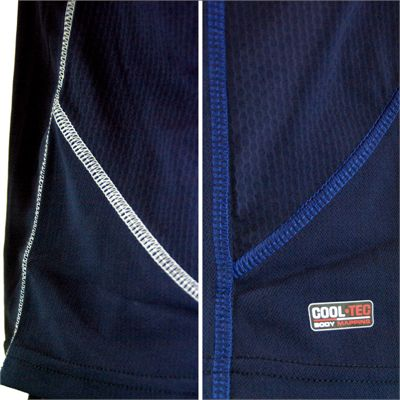 Karakal Leon Button Polo Shirt-Navy-Close-View