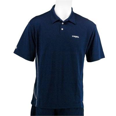 Karakal Leon Button Polo Shirt-Navy-Front