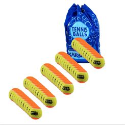 Karakal Lobo Orange Mini 5 doz Tennis Balls and Bag Bundle
