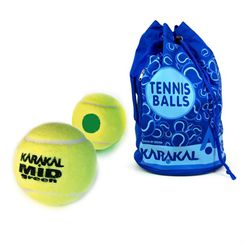 Karakal Mid Green 5 doz Tennis Balls and Bag Bundle