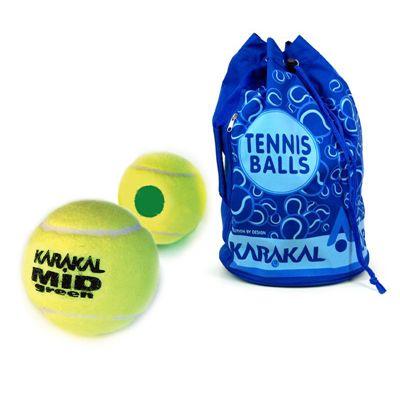 Karakal Mid Green Mini 5 doz Tennis Balls and Bag Bundle