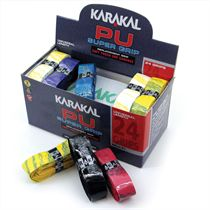 Karakal Multi Colour PU Super Replacement Grip - 24 pack
