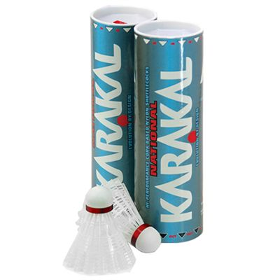 Karakal National Shuttlecocks White - 1 dozen - Fast Speed