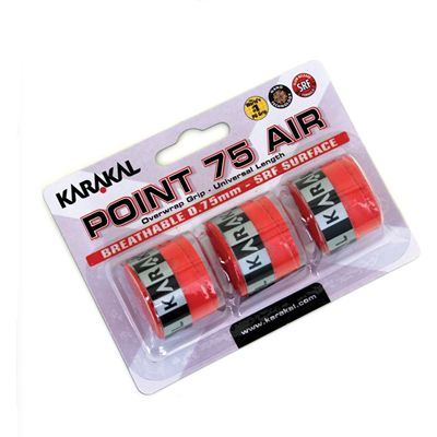 Karakal Point 75 Air Overwrap Grip - 3 grips