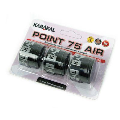Karakal Point 75 Air Overwrap Grip-Black-Pack of 3