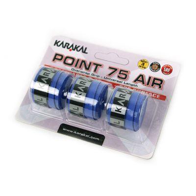 Karakal Point 75 Air Overwrap Grip-Blue-Pack of 3