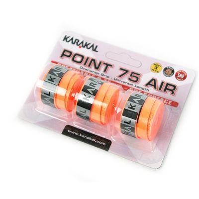 Karakal Point 75 Air Overwrap Grip-Orange-Pack of 3