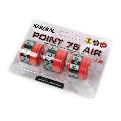 Karakal Point 75 Air Overwrap Grip-Red-Pack of 3
