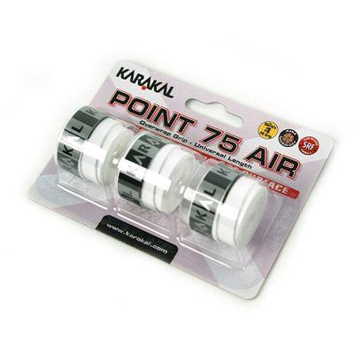 Karakal Point 75 Air Overwrap Grip-White-Pack of 3