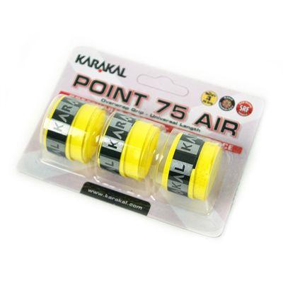 Karakal Point 75 Air Overwrap Grip-Yellow-Pack of 3