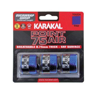 Karakal Point 75 Air Overwrap Grip - Pack of 3 - Blue