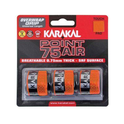 Karakal Point 75 Air Overwrap Grip - Pack of 3 - Orange