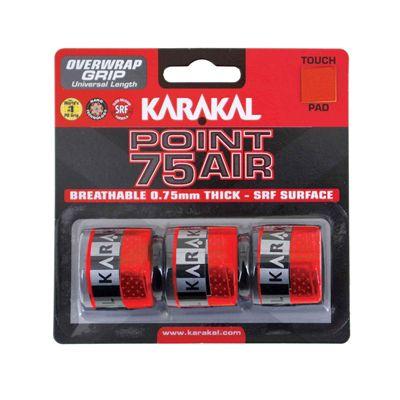 Karakal Point 75 Air Overwrap Grip - Pack of 3 - Red