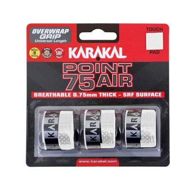 Karakal Point 75 Air Overwrap Grip - Pack of 3 - White