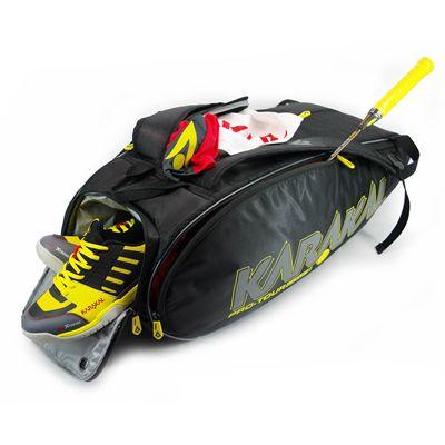 Karakal Pro Tour 2.0 Comp 9 Racket Bag - In Use
