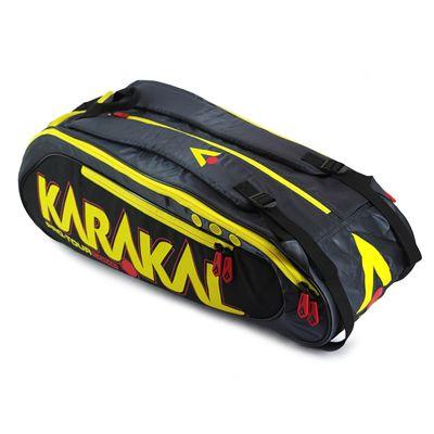 Karakal Pro Tour Comp 9 Racket Bag AW17 - Side - Angled